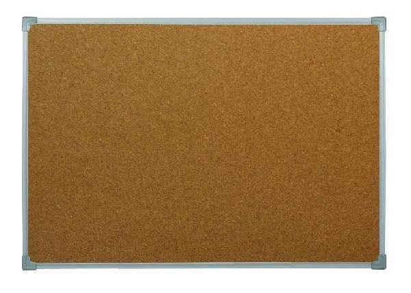 Пробковая доска BOARDSYS 100x150 см, металлическая рамка