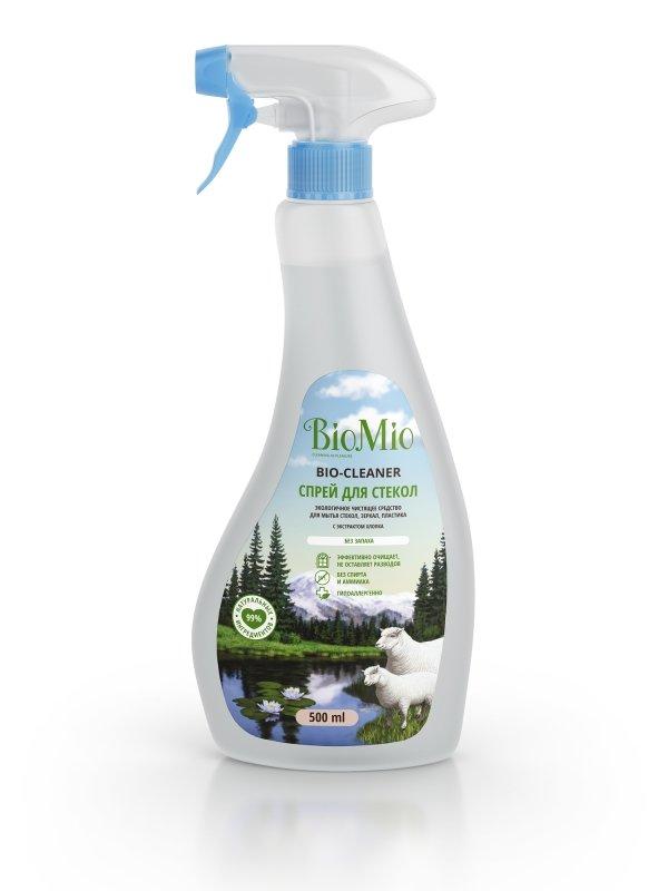 Спрей BIOMIO BIO-GLASS CLEANER для стекол, зеркал, пластика, без запаха, 500 мл