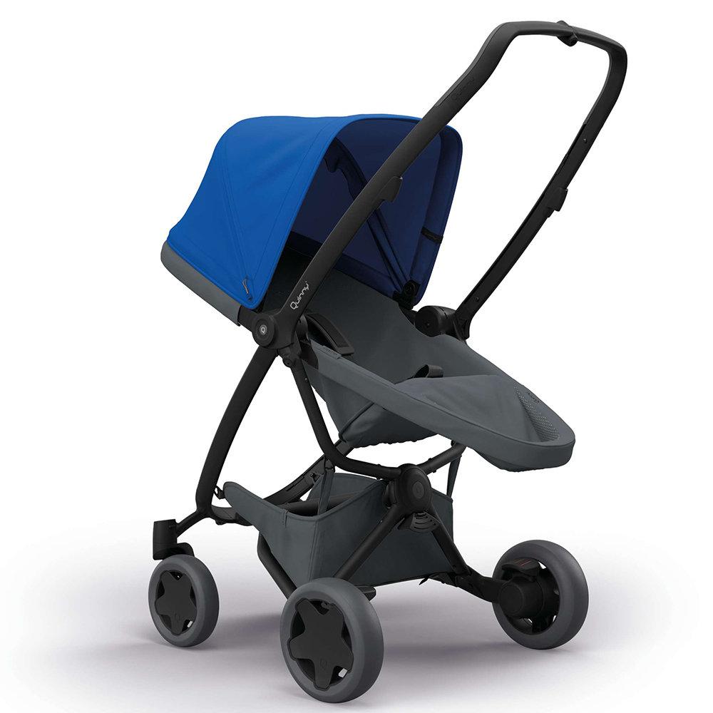 Quinny коляска прогулочная zapp flex plus цв.blue on graphite