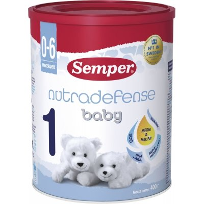 Молочная смесь Semper Baby Nutradefense 1 с рождения 400 гр
