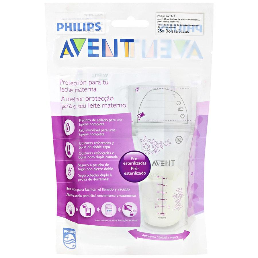 Пакеты для сбора и хранения грудного молока Avent Philips 180мл 25шт