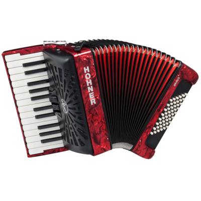HOHNER The New Bravo II 48 red (A16531) аккордеон 1/2, цвет красный