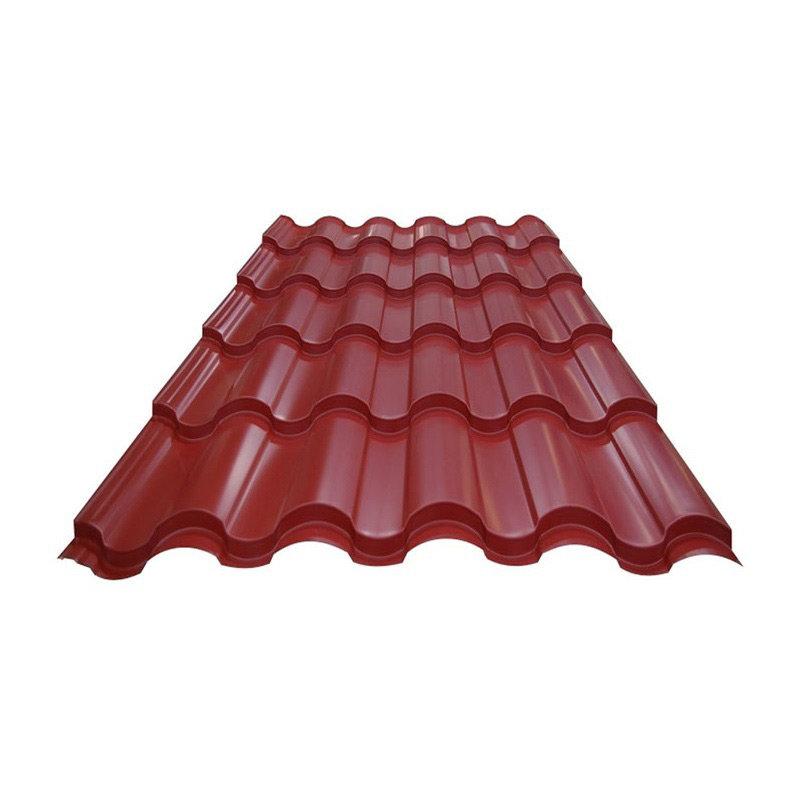 Металлочерепица (ral 3005) красное вино 1190х1200х0,4мм (1,428м2) Без тм, 165504