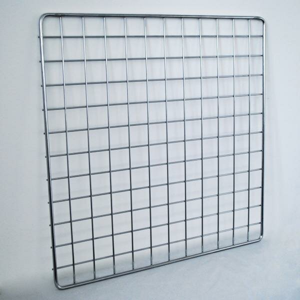 Торговая решетка (сетка) для оборудования магазина gp 1000х800мм, хром