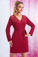 Donna Халат женский с длинными рукавами бордовый из вискозы (бордовый / XXL(50))