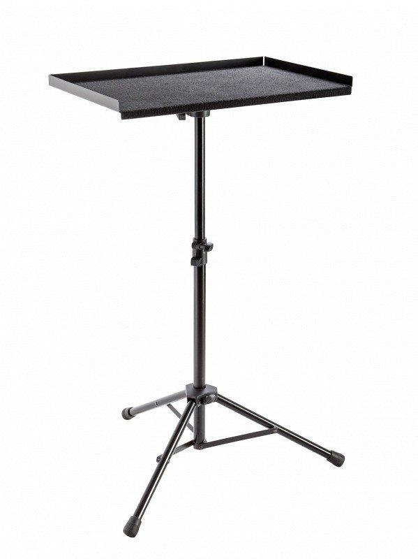 K&M 13500-000-55 стойка под перкуссию, в 70 - 125 cм, стол 573 x 373 мм покрыт фетром, сталь, чёрный, вес 4,5 кг