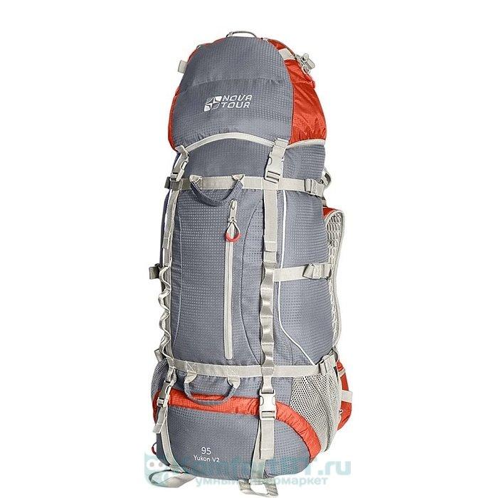 рюкзак туристический Nova Tour Юкон 95 V2 Серый/красный
