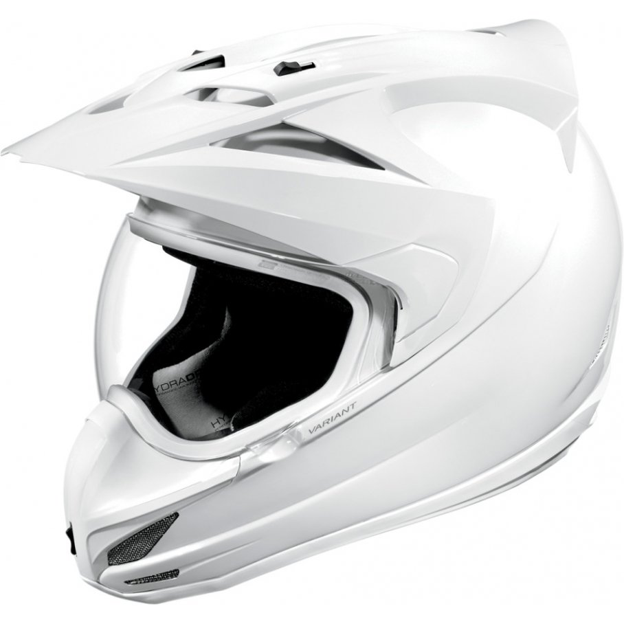 Icon Variant Solid мотошлем белый (размер: xl, цвет: белые)