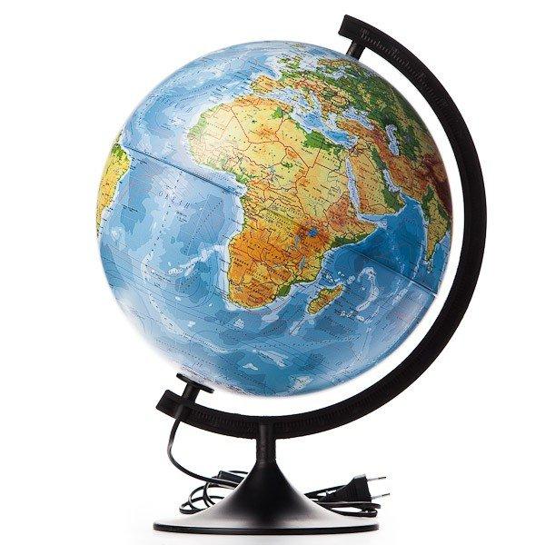 Глобус физико-политический с подсветкой d=32 см К013200101 Globen