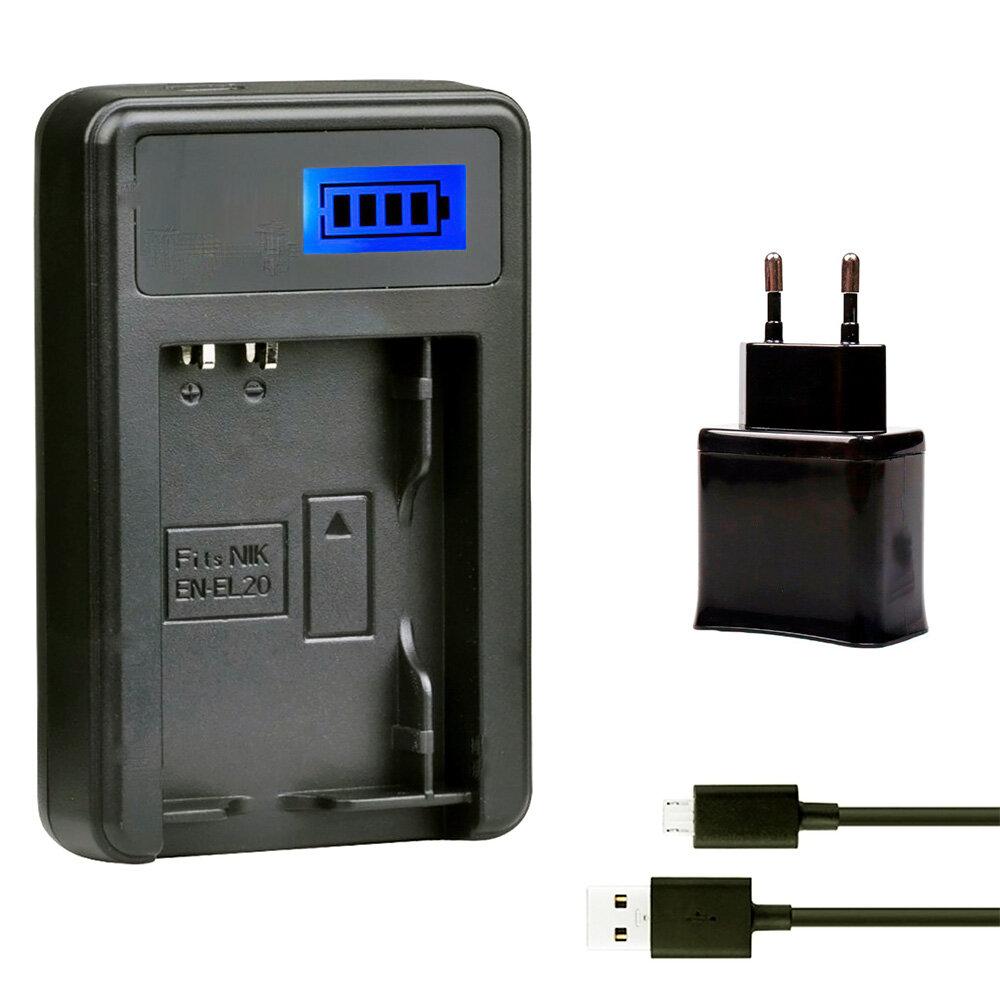 Зарядное Устройство EN-EL20 USB с адаптером для Nikon 1 J1 J2 J3 S1 и Blackmagic