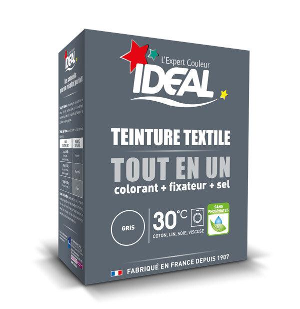 IDEAL MINI Краска для окрашивания одежды и тканей из хлопка, льна, шелка и вискозы, 230 г. серая