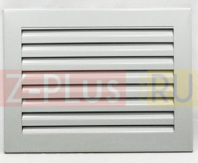 Жалюзийная решетка на магнитах серии Ж-1620 прямойгольная 200x160 мм металлическая серая (RAL 9006)