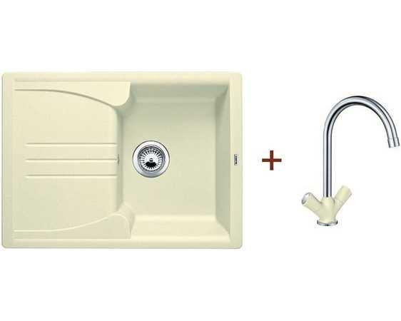 Кухонная мойка Blanco комплект из мойки ENOS 40 S жасмин и смесителя AMONA гранит (514230A2)