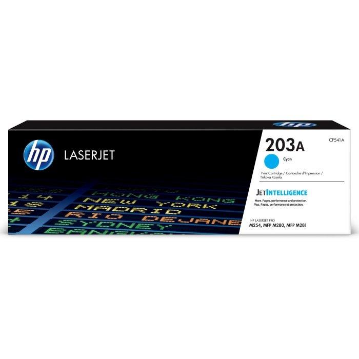 Картриджи, тонеры, фотобарабаны Тонер-картридж HP 203A Cyan LaserJet оригинальный (CF541A)