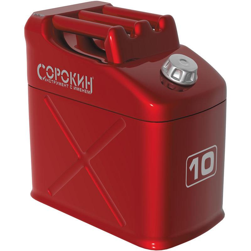 Канистра Сорокин металлическая вертикальная 10л