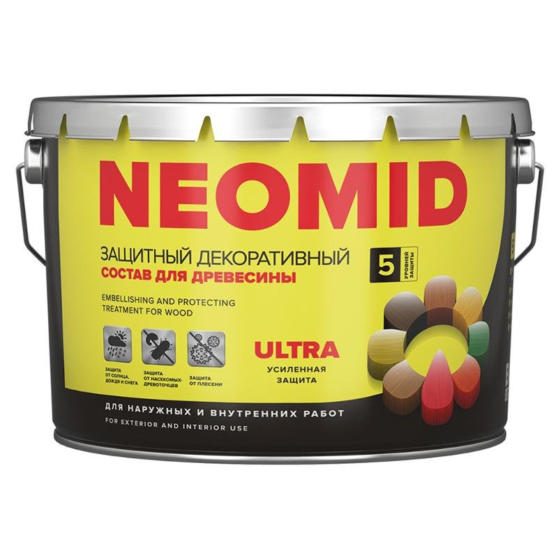 Антисептик Neomid Bio Color Ultra махагон 9л