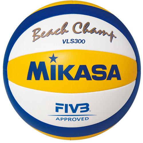 Мяч для пляжного волейбола Mikasa VLS300, белый, 5, Профессиональный, Машинная сшивка