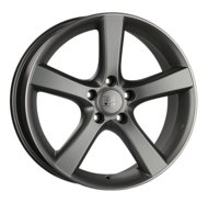 "Диски 1000 Miglia MM1001 Matt Anthracite Polished Lip 18""/8"", PCD 5x112, ET 35, DIA 66.6 - фото 1"