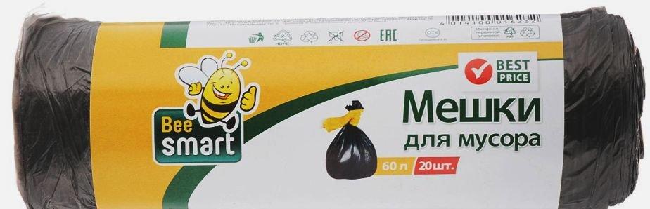 Инвентарь для уборки Beesmart 403011/403010 мешки для мусора 60л 20шт.