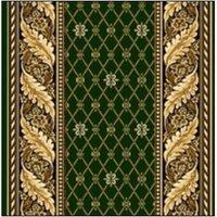 Витебские ковры Ковровая дорожка полушерстяная KONSUL зеленый 1.5x2 м.