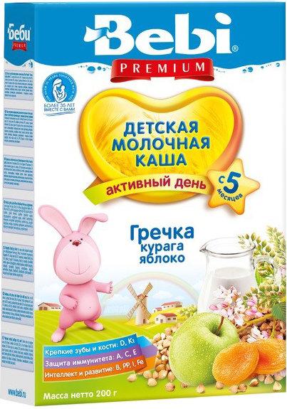 Каша Bebi Молочная гречневая с курагой и яблоком (с 5 месяцев) 200 г