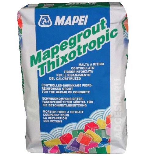 Состав для ремонта и реставрации бетона Mapegrout Thixotropic 25кг