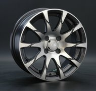 Диски LS Wheels 233 7,5x17 5x120 D74.1 ET20 цвет GMF (темно-серый,полировка) - фото 1