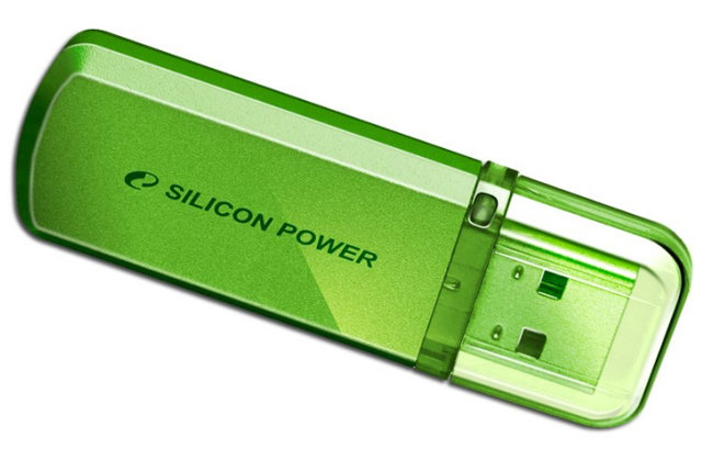 Флешка Silicon Power Helios 101 16Gb green