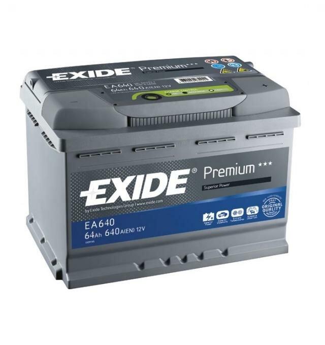 Автомобильный аккумулятор Exide EA640 64A/h 640A