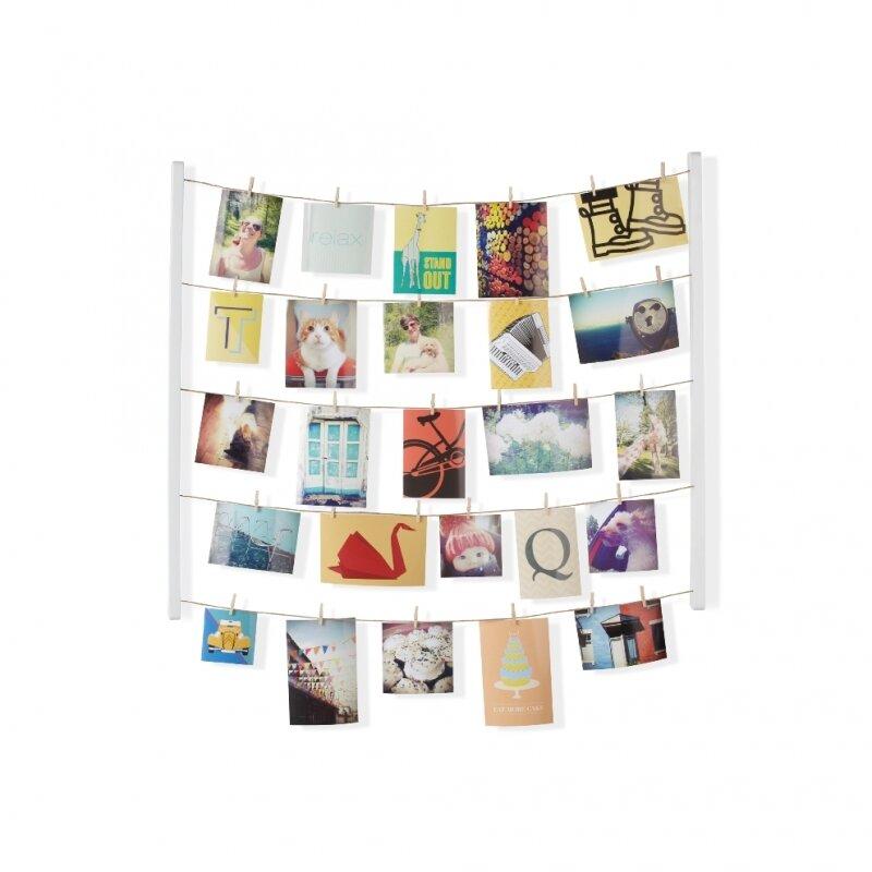 Панно с зажимами для 40 фотографий UMBRA Hangit белое
