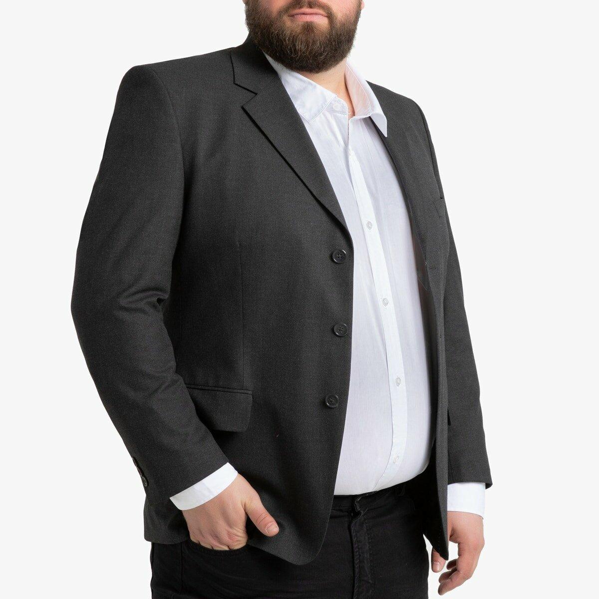 Пиджак La Redoute Костюмный прямого покроя на рост от до см 60 серый