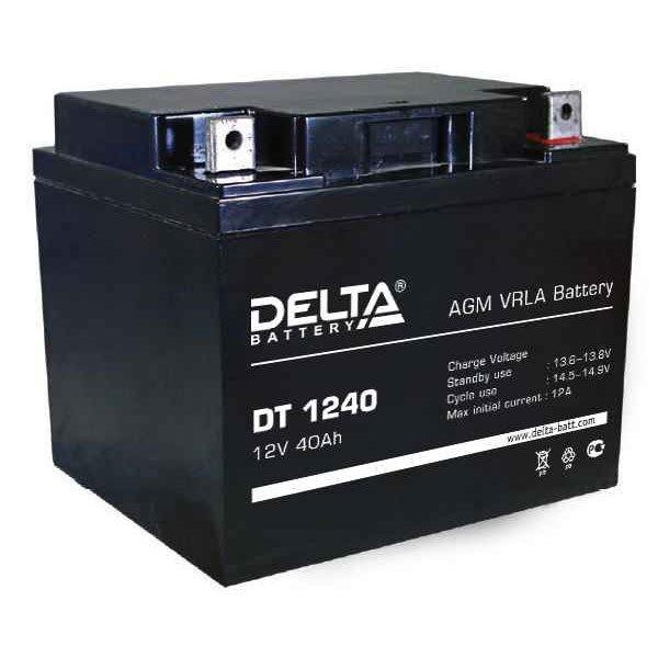 АКБ-40 DT 1240 аккумулятор Delta 12В/40Ач