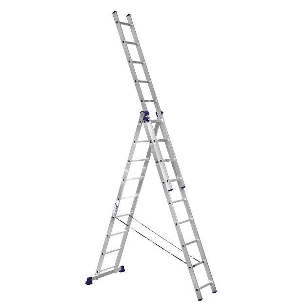 Лестница трехсекционная Алюмет 5309 3х9