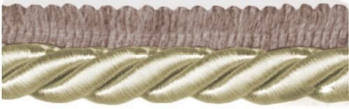 Кант витой, 9 мм, 25 м (цвет: 103/02, темно-коричневый/сливочный), арт. 23-103 R