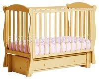 Детская кроватка Кубаньлесстрой БИ 42.3 Кубаночка-6 маятник продольный Натуральный