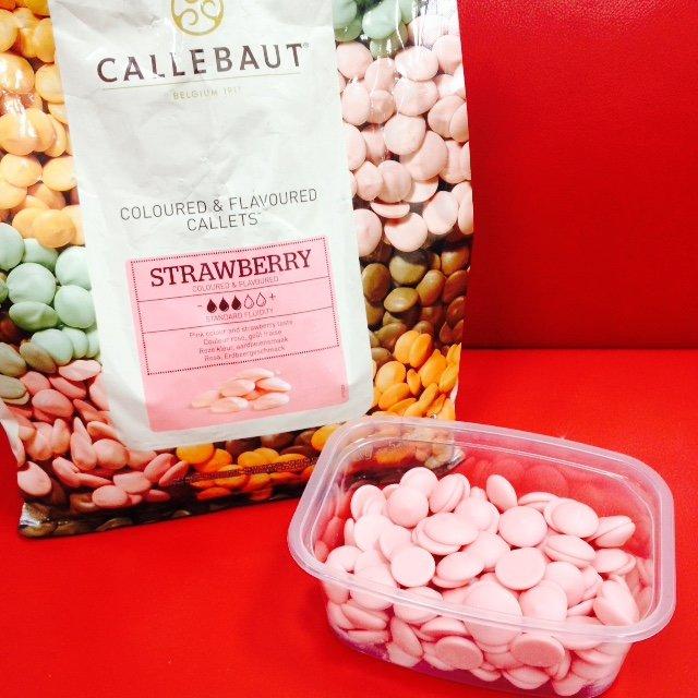 Клубничный бельгийский шоколад Callebaut 200г