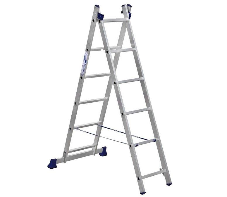 Лестница двухсекционная Алюмет 5206 2х6