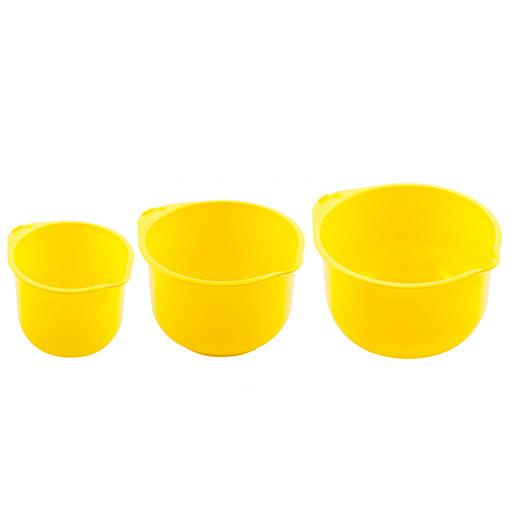 Набор (3 шт.) мисок для кухни (2 л. + 2,75 л. + 3,75 л. Полимербыт 380