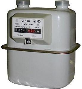 Счетчик газа СГК G4 Электроприбор,левый,110мм, М1