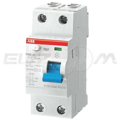 Устройство защитного отключения ABB F202 2п 16А 10мА AC