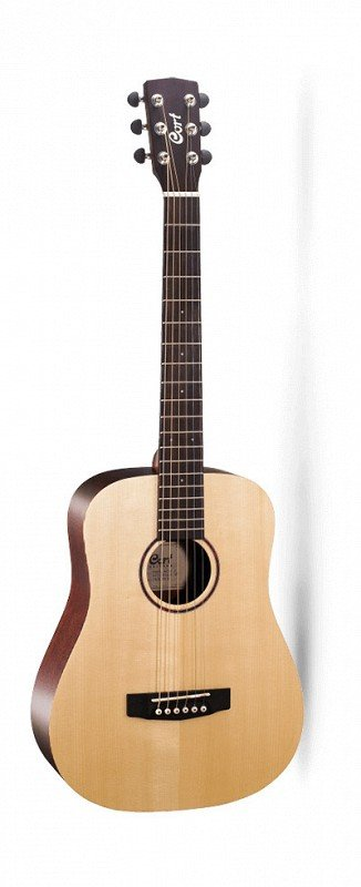 CORT EARTH-MINI-F Earth Series Электро-акустическая гитара 3/4, цвет натуральный, с чехлом