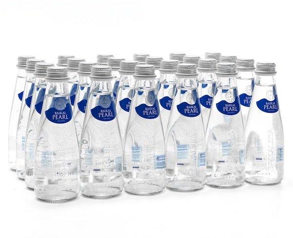 Природная вода «Жемчужина Байкала» (BAIKAL PEARL) 0,25 литра, Стекло, 24 шт. в упак.