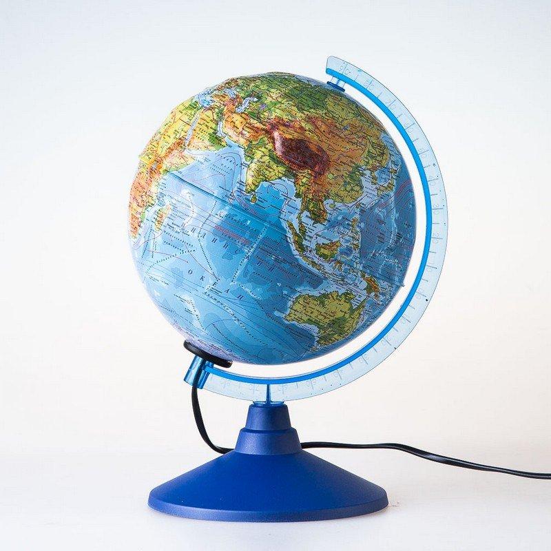 Глобус рельефный физико-политический с подсветкой d=25 см Globen Ке022500195