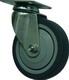 NF-0122 Колесо мебельное D=100мм поворотное на площадке, серая резина