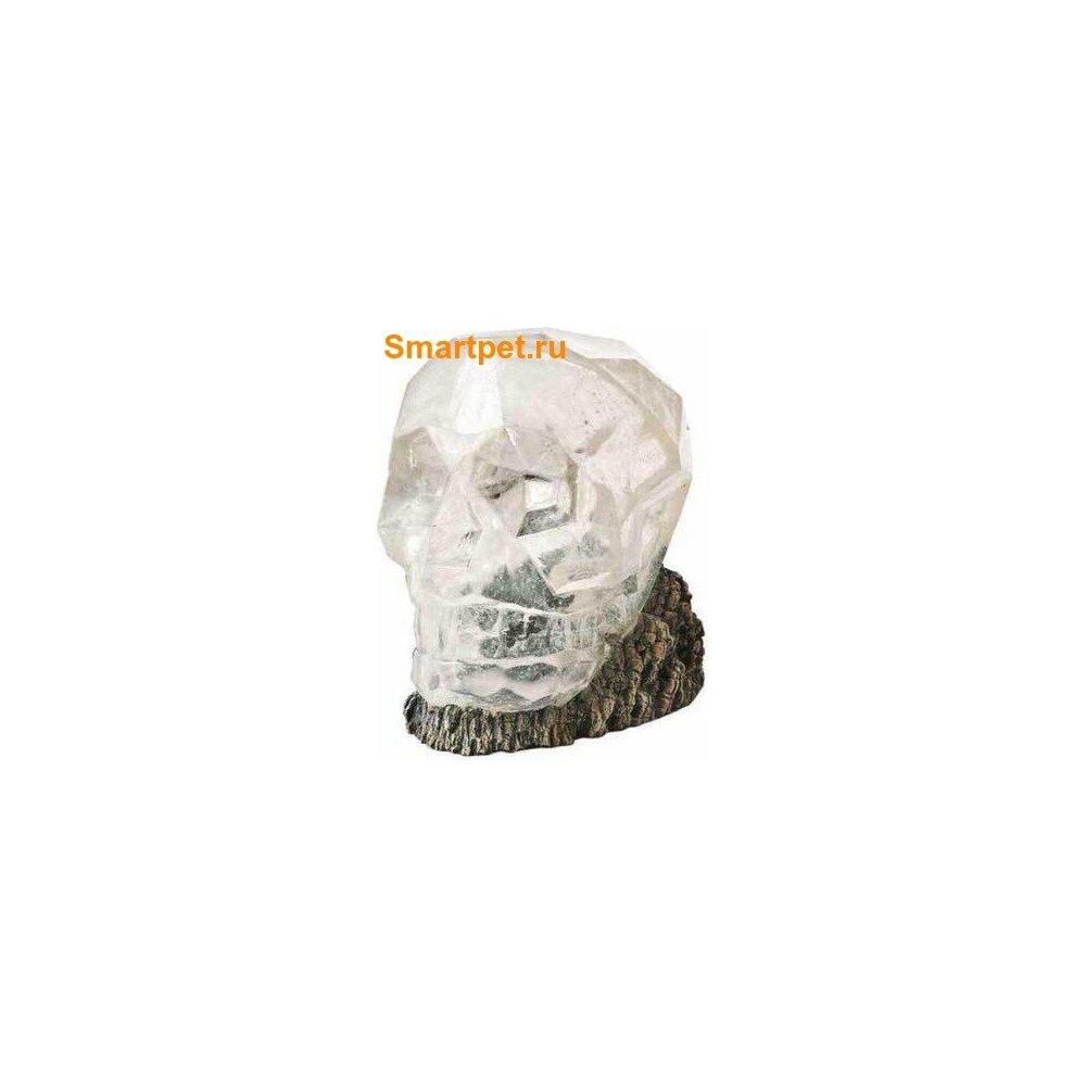 """H2show Декорация для аквариума """"Хрустальный череп"""", 14,5x14,5x16,5см"""