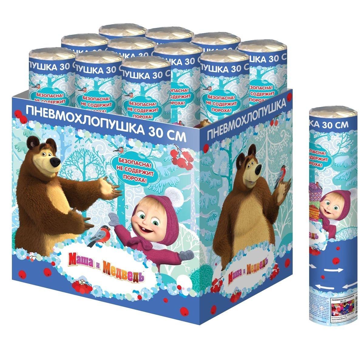 Хлопушка-конфетти Маша и Медведь Маша и Медведь, 1шт.