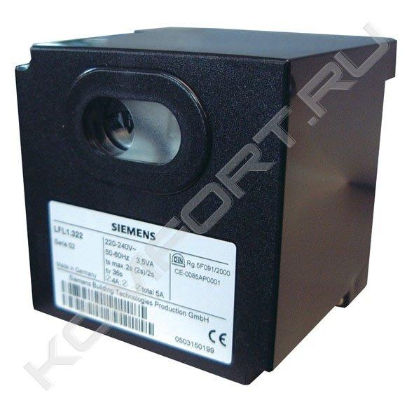 Автомат горения для газовых горелок с расходом >350 kВт, Siemens LFL1.322