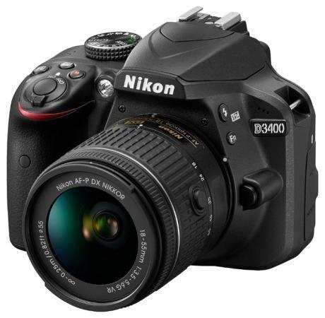 Зеркальная фотокамера Nikon D3400 18-55mm 24.2Mp черный VBA490K002