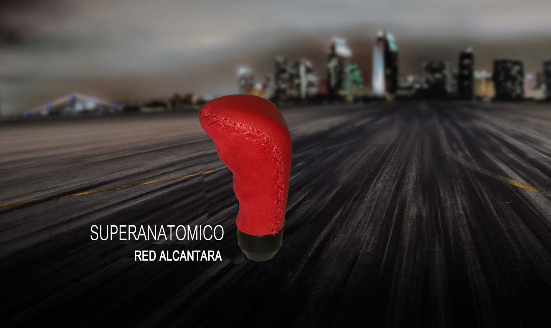Ручка кпп momo (момо) Superanatomico Red Alcantara