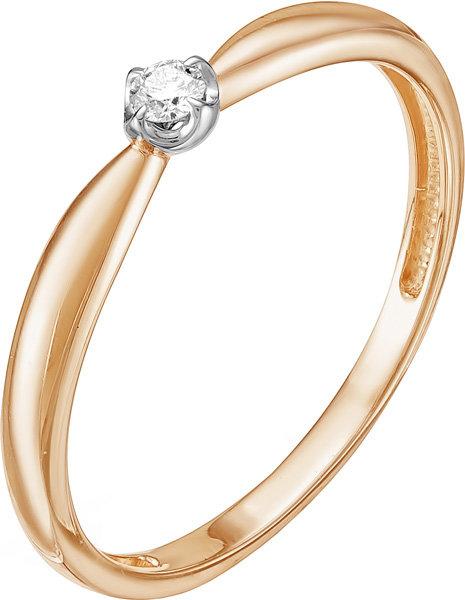 Золотое помолвочное кольцо Vesna jewelry 1054-151-00-00 с бриллиантом, размер 16 мм